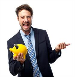 Man with Piggy Bank - Financial Planning